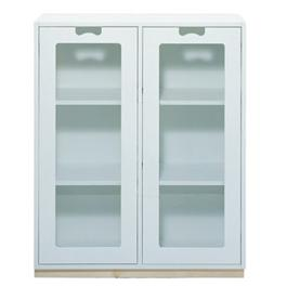 Snow, Cabinet E with Glass Doors